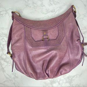 The Sak Dusty Lavender Rose Leather Crossbody bag